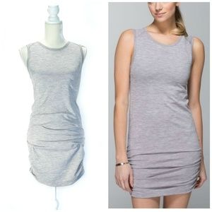 LULULEMON In the Flow Heather Gray Dress 6